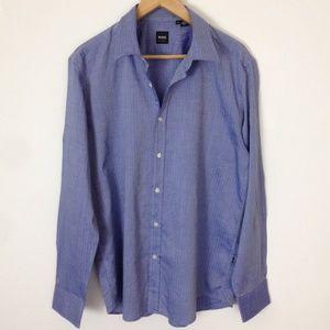 Hugo Boss Blue Button XL Regular Fit Shirt